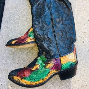 Dan Post Men's Vintage Snakeskin size 9 Boots